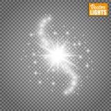 Efecto luminoso del resplandor Ilustración del vector Concepto de destello de la Navidad Foto de archivo libre de regalías