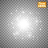 Efecto luminoso del resplandor Ilustración del vector Concepto de destello de la Navidad Imagenes de archivo