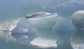 Efecto luminoso e icebergs Fotografía de archivo