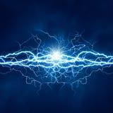 Efecto luminoso eléctrico Fotos de archivo libres de regalías
