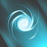 Efecto luminoso espiral abstracto Foto de archivo