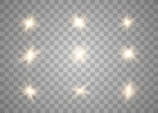 Efecto luminoso que brilla intensamente ilustración del vector