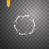 Efecto luminoso transparente del relámpago eléctrico de la bola Bola mágica del plasma stock de ilustración