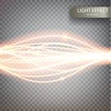 Efecto mágico del rastro del remolino de la chispa del brillo Imagenes de archivo