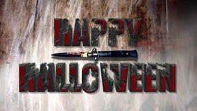 Efecto sangriento asustadizo del texto del feliz Halloween fotos de archivo