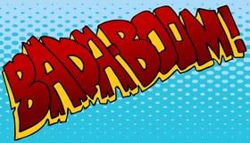 Efecto sonoro de Badaboom Imagenes de archivo