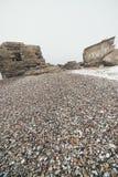 Efecto texturizado piedra del vintage de la playa del guijarro Imagen de archivo