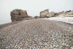 Efecto texturizado piedra del vintage de la playa del guijarro Imágenes de archivo libres de regalías