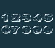 Efecto transparente líquido estilizado de los números Foto de archivo
