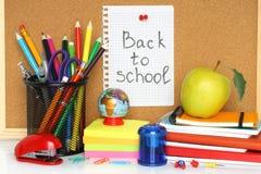 Efectos de escritorio de la escuela Fotos de archivo libres de regalías