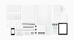 Efectos de escritorio en blanco/plantilla corporativa de la identificación Foto de archivo libre de regalías
