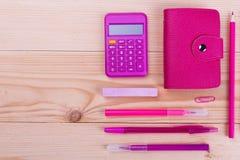 Efectos de escritorio en color rosado Fotografía de archivo libre de regalías