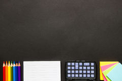 Efectos de escritorio en el escritorio negro Foto de archivo libre de regalías