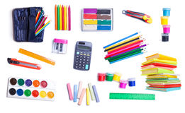 Efectos de escritorio para la escuela y la oficina fotos de archivo libres de regalías