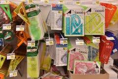 Efectos de escritorio por el año escolar en el supermercado Imágenes de archivo libres de regalías