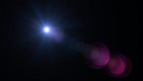 Efectos de la llamarada de la lente Foto de archivo