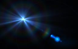 Efectos de la llamarada de la lente Imagen de archivo