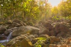 Efectos de la luz del sol sobre piedra Foto de archivo libre de regalías