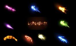 Efectos de neón ligeros fijados Foto de archivo libre de regalías