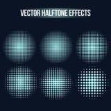 Efectos de semitono del vector fijados libre illustration