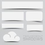 Efectos de sombra del vector Foto de archivo libre de regalías