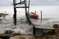 Efectos del huracán Imagen de archivo libre de regalías