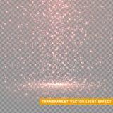 Efectos luminosos del brillo que brillan intensamente realistas Elemento del diseño de la decoración de la Navidad Fotos de archivo libres de regalías