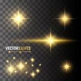 Efectos luminosos del vector Imágenes de archivo libres de regalías