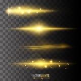 Efectos luminosos del vector Foto de archivo libre de regalías