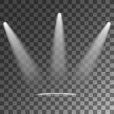 Efectos luminosos del vector de los proyectores stock de ilustración