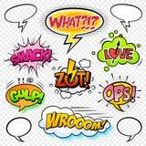 Efectos sonoros cómicos set-6 stock de ilustración