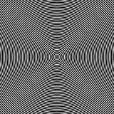 Efeito ótico dos círculos concêntricos ilustração do vetor