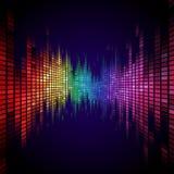 Efeito colorido arco-íris do equalizador Imagens de Stock Royalty Free