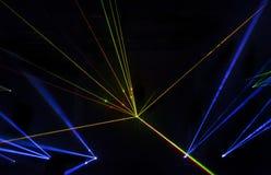Efeito colorido do laser Imagem de Stock