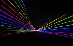 Efeito colorido do laser Fotos de Stock