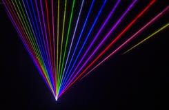 Efeito colorido do laser Fotografia de Stock Royalty Free