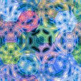 Efeito colorido sextavado Honey Comb Hex Pattern da mandala ilustração royalty free