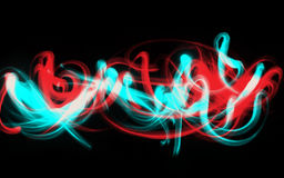 Efeito da luz abstrato do curso Fotografia de Stock Royalty Free