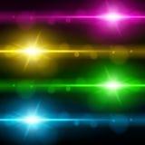 Efeito da luz, alargamento, iluminando-se Imagem de Stock