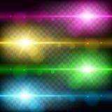 Efeito da luz, alargamento, iluminando-se Fotografia de Stock Royalty Free