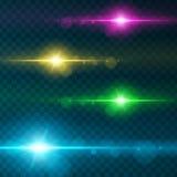 Efeito da luz, alargamento, iluminando-se Imagens de Stock