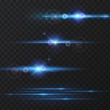 Efeito da luz, alargamento, iluminando-se Imagens de Stock Royalty Free