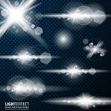 Efeito da luz, alargamento, iluminando-se Peças sobresselentes para a ilustração Imagem de Stock Royalty Free