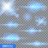 Efeito da luz, alargamento, iluminando-se Peças sobresselentes para a ilustração Imagens de Stock
