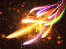 Efeito da luz colorido Imagens de Stock Royalty Free