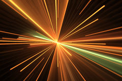 Efeito da luz do fulgor alaranjado Explosão da estrela Fotografia de Stock Royalty Free