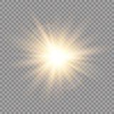 Efeito da luz do fulgor Explosão da estrela com Sparkles Sun Ilustração do vetor ilustração royalty free