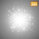 Efeito da luz do fulgor Ilustração do vetor Conceito instantâneo do Natal Imagem de Stock