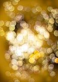 Efeito da luz dourado do bokeh Foto de Stock