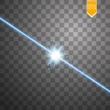 Efeito da luz especial do alargamento da lente da luz solar transparente do vetor Flash de Sun com raios e projetor Imagem de Stock